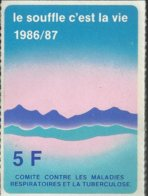 Autocollant - Le Souffle C'est La Vie 1986/87 - Comité Contre Les Maladies Respiratoires Et La Tuberculose - Autocollants