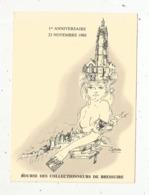 Cp, Bourses & Salons De Collections, 1 Er Anniversaire Bourse Des Collectionneurs De BRESSUIRE, 1980 - Bourses & Salons De Collections