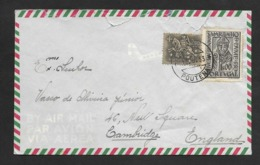 Portugal Lettre Cachet A Date Poutena Anadia Pas Commun 1953 Cover Unusual Postmark - Marcophilie