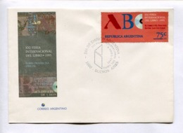XXI FERIA INTERNACIONAL DEL LIBRO - BOOK LIVRE. ARGENTINA 1995 ENVELOPE FDC PRIMER DIA -LILHU - Idioma