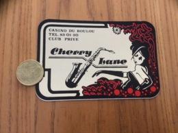 Ancien AUTOCOLLANT, Sticker «CASINO DU BOULOU - CLUB PRIVÉE (discothèque) - Cherry Lane - LE BOULOU (66)» (saxophone) - Autocollants