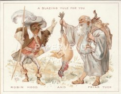 Greeting Card A Robin As Robin Hood With  Friar Tuck Artist Robert Dudley Egc764 - Old Paper