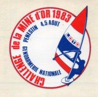 Autocollant PLANCHE A VOILE CHALLENGE DE LA MINE D'OR 1983 - Aufkleber