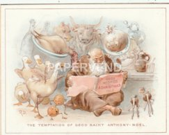 Greeting Card The Temptation Of Saint Anthony-Noel Artist Robert Dudley Egc765 - Old Paper