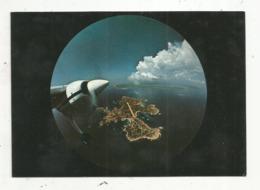 Cp, AVIATION , Avion , île De CAVALLO ,  CORSE ,vue De 7000 Pieds , Vierge , Photo E. Strazzabosco - 1946-....: Ere Moderne