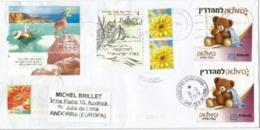 Abbott Teddy Bear & Israel Dead Sea, On Letter 2019 Israel, Sent To Andorra, With Arrival Postmark - Lettres & Documents