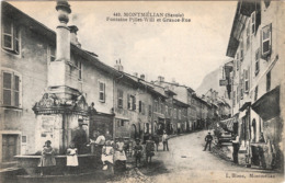 CPA Montmélian Fontaine Pillet Will Et Grande Rue 73 Savoie - Montmelian