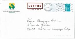 """DIV4 - PRET A POSTER TSC REGION CHAMPAGNE ARDENNE OBLITERE - MENTION """"LETTRE..."""" ROUGE FONCE - Prêts-à-poster: TSC Et Repiquages Semi-officiels"""