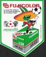 Autocollant - Fujicolor - Le Seul Film Officiel De La Coupe Du Monde 1986 - Mexico 86 - Autocollants