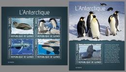 GUINEA REP. 2019 MNH Antarctic Animals Tiere Der Antarktis Animaux De L'Antarctique M/S+S/S - OFFICIAL ISSUE - DH1938 - Faune Antarctique