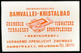 AUTOCOLLANT, STICKERS : HEUSDEN, Damvallei-Kristalbad, Restaurant, Cremerie, Viswaters, Terrassen, Sportpeeinen... - Autocollants
