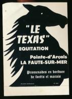 AUTOCOLLANT, STICKERS : LA FAUTE-SUR-MER (Vendée), Le Texas, Equitation, Pointe-d'Arçais, Promenades, Forêts, Marais - Autocollants