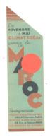 """Marque-pages Publicitaire - Visitez Le MAROC """" (b260/2 ) - Marque-Pages"""