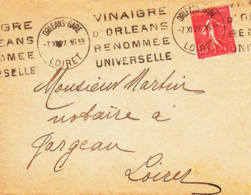 FRANCE - 1927 - Vinaigre D'Orléans Renommée Universelle - France