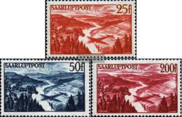 Saar 252-254 (complete Issue) With Hinge 1948 Airmail - Unused Stamps