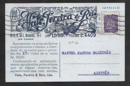 Portugal Carte Postale Publicitaire Buvard 1951 Épicerie Conserves De Sardines Noix Pub Postcard Grocery Walnuts Blotter - 1910-... République