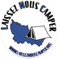 Autocollant LAISSEZ NOUS CAMPER - Aufkleber