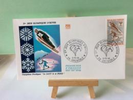 Jeux Olympiques D'Hiver - 38 Grenoble - 6.2.1968 FDC 1er Jour Coté 1,50€ (Le Saut Et Fond) - 1960-1969