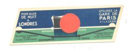 Marque-pages Publicitaire - Paris - Londres - Bateau, Ferries ...Réseau De L'Etat. (b260/2 ) - Marque-Pages