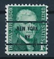 USA Precancel Vorausentwertung Preo -NEW YORK NY- Siehe Scan - Vereinigte Staaten