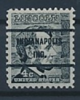 USA Precancel Vorausentwertung Preo -INDIANAPOLIS IND- Siehe Scan - Vereinigte Staaten