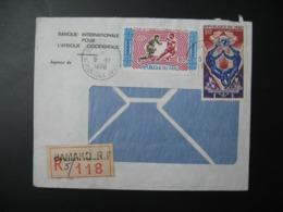 Lettre Thème Sportif  Foot Ball    1970 Recommandé R5/118  Mali Bamako Banque Internationale Pour L'Afrique Occidentale - Mali (1959-...)