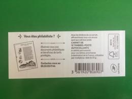 (2019) - Carnet 12 VP / Lettre Prioritaire - Abonnez-vous Aux Documents Philatéliques - Uso Corrente