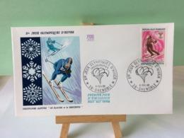 Jeux Olympiques D'Hiver - 38 Grenoble - 6.2.1968 FDC 1er Jour Coté 1,50€ (Slalom Et La Descente) - 1960-1969