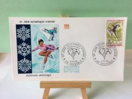 Jeux Olympiques D'Hiver - 38 Grenoble - 6.2.1968 FDC 1er Jour Coté 1,50€ (Patinage Artistique) - 1960-1969