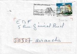 TP N° 3062 Seul Sur Enveloppe De Carolles - Marcophilie (Lettres)