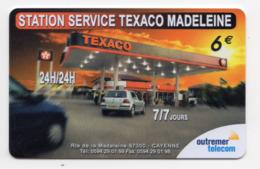 GUYANE OUTREMER TELECOM 1000 Ex PREPAYE STATION SERVICE TEXACO MADELEINE CAYENNE - Guyane