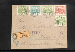 Czechoslovakia 1919 Interesting Registered Letter From Aussig - Only Front Part Of The Envelope - Briefe U. Dokumente