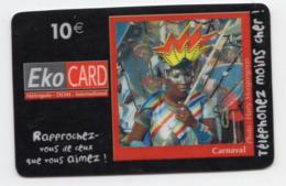 ANTILLES EKO CARD 6500 Ex PREPAYE CARNAVAL PHOTO HARRY MONGONGNON - Antilles (Françaises)