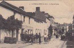 CPA ST PERE EN RETZ LA RUE DE PORNIC - France