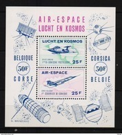 LUCHT EN KOSMOS BLOK GETAND POSTFRIS**  A97 - Commemorative Labels