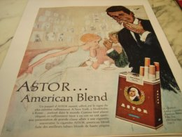 ANCIENNE PUBLICITE CIGARETTE ASTOR AMERICAN BLEND 1964 - Other
