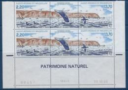 """SPM Coins Datés YT 495A Triptyque """" Patrimoine Naturel """" Neuf** Du 13.10.88 - Ungebraucht"""