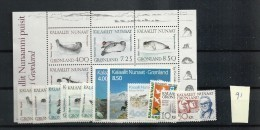 1991 MNH Greenland, Year Complete According To Michel, Postfris - Greenland