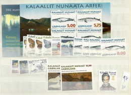 1997 MNH Greenland, Year Complete According To Michel, Postfris - Greenland