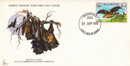 MAURICE - 1978 - FDC - WWF - Roussette - Murciélagos