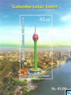 Sri Lanka Stamps 2019, Colombo Lotus Tower, MS - Sri Lanka (Ceylon) (1948-...)