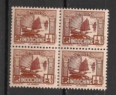 Indochine - 1931 - N°Yv. 153 - Jonque 1/2c - Bloc De 4 - Neuf Luxe ** / MNH / Postfrisch - Neufs