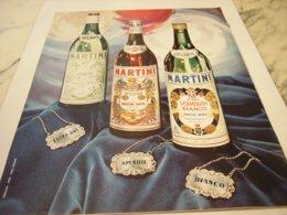 ANCIENNE PUBLICITE MARTINI APERITIF 1965 - Afiches
