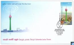 Sri Lanka Stamps 2019, Colombo Lotus Tower, FDC - Sri Lanka (Ceylon) (1948-...)