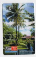 ANTILLES GUADELOUPE EKO CARD 1000 Ex PREPAYE L'ile Aux Cocotiers Jardin Botanique De Deshaies - Antilles (Françaises)