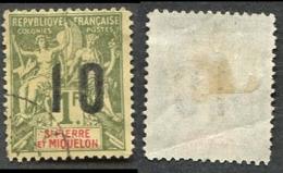 Colonie Française, Sainte Pierre-et-Miquelon N°104 ; Faux Fournier Oblitéré - St.Pierre Et Miquelon