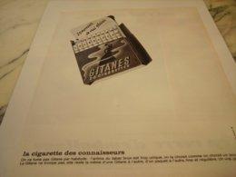 ANCIENNE PUBLICITE 20 MOMENT DE PLAISIR  CIGARETTE GITANES 1964 - Tobacco (related)