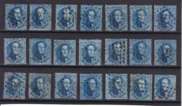 N° 15 : LOT 21 Timbres  Dentelures Diverses - 1863-1864 Medallions (13/16)