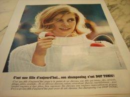 ANCIENNE PUBLICITE SHAMPOOING DOP  TONIC 1964 - Publicités