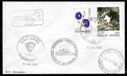 AANT-274 ANTARCTICA 1987 ANTARCTIC ESPERANZA STATION HELITRANSPORTED MAIL COVER - Polar Flights